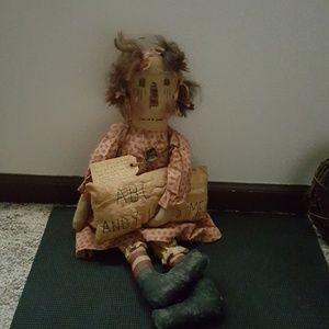 Other - OOAK PRIMITIVE Raggedy Annie Ann Doll